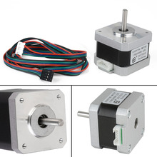 4-Lead 2 Phase Nema 17 Stepper Motor 320mN.m 45oz 1.5A 1.8 Degree Mayitr For 3D Printer DIY Tools