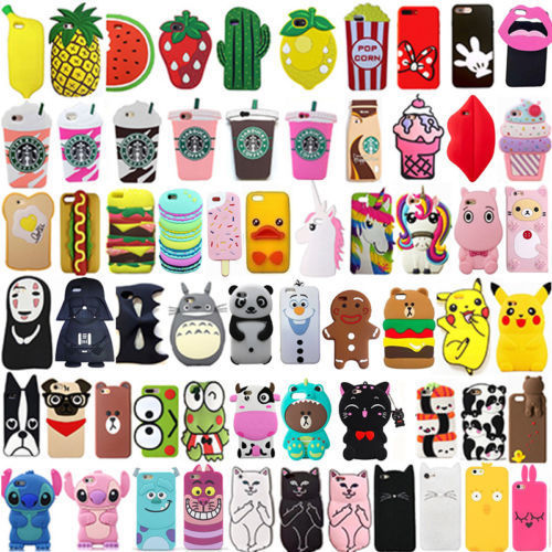 For iPhone SE 5 5s 5c Hot 3D Cute Cartoon Soft Silicone Phone Case Back Cover Pretty Unicorn Shockproof Newest Animal Case Cover