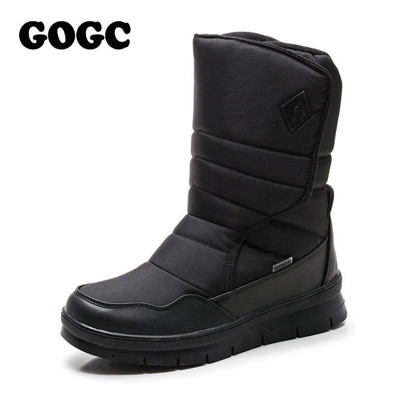 GOGC Warme Männer Winter Schuhe Marke Nicht-slip Winter Schuhe für Männer Hohe Qualität Winter Stiefel Männer Warme Schnee stiefel Schuhe Männer Plus Größe