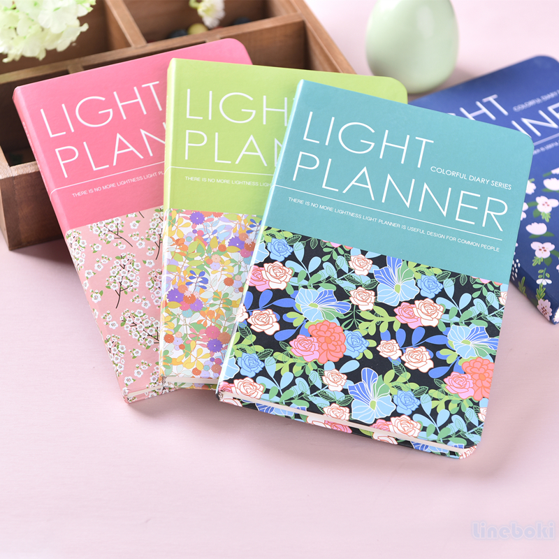 2017 Kawaii Korean Floral Daily Vintage Flower Schedule Day Planner Book Line Diary Weekly Plan Organizer Notebook Agenda A5 pu leather floral flower schedule book diary weekly planner notebook material escolar school office supplies stationery 01605