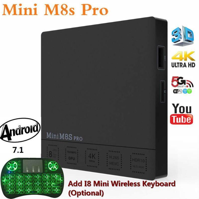 Mini M8S PRO Amlogic S912 Android 7.1 TV Box Octa-core DDR4 3G32GB DDR3 2G16GB 2,4G/5 Ghz Dual Wifi 4 Karat MINI M8S PRO Set top Box