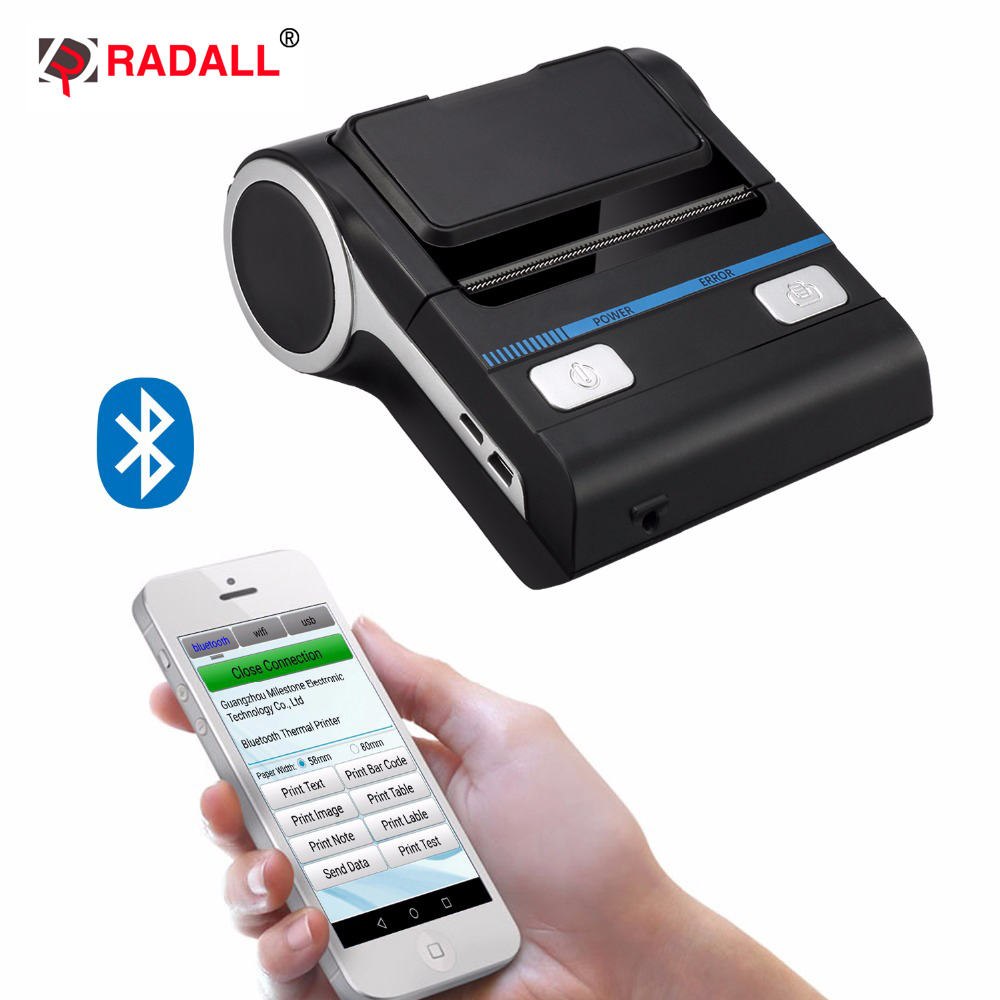 Gratis verzending mini draagbare printer USB & Bluetooth thermische - Office-elektronica