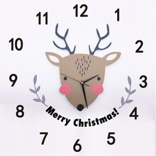 2019 Reloj Large Wall Clock Deer Design Fashion Silent Living Room Decor Kids Home Decoration Watch Christmas Gift