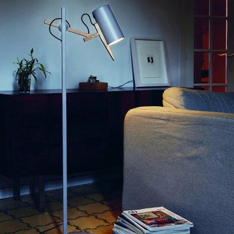 Living Room Bedroom Modern Minimalist Wood Desk Head Office Standing Lamp Bedside Long Arm Arts In Floor Lamps From Lights Lighting On Aliexpress