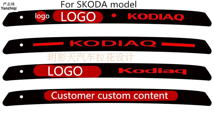 Free shipping Carbon Fiber Stickers And Decals High Mounted Stop Brake Lamp  Light Car Styling for SKODA KODIAQ