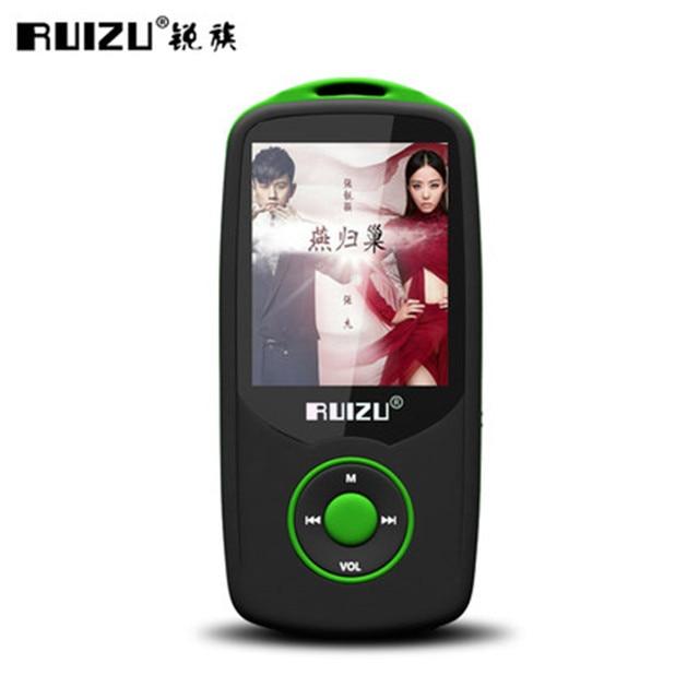 Версия оригинальный RUIZU X06 Bluetooth MP3 музыкальный плеер с 1,8 дюймов Экран Высокое качество голоса Регистраторы FM радио плеер