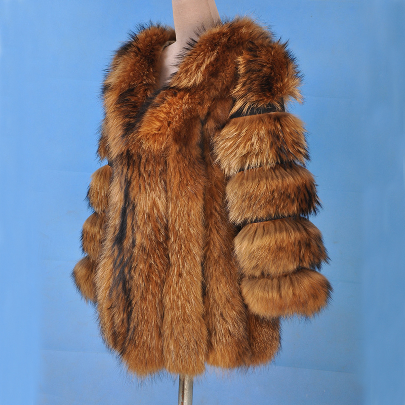 Fashion Brand Factory Outlet Fox Fur Coat Real