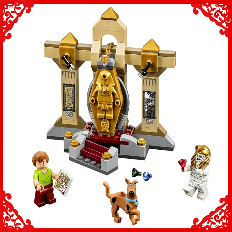 109Pcs Scooby-Doo Mummy Museum Mystery Model Building Block Toys BELA 10428 Educational Gift For Children Compatible Legoe decool 3117 city creator 3in1 vacation getaways building block 613pcs diy educational toys for children compatible legoe