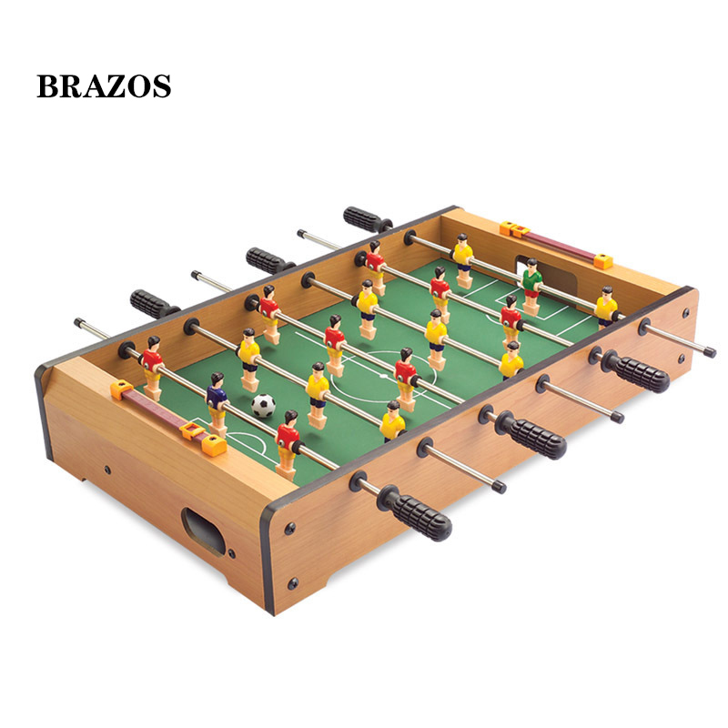 Mini Foosball Table Soccer Game Kids Adults Table Football Games Wooden 6 Shots Futbolito Football Kickers Desktop Fussball image