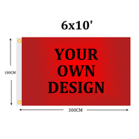 Custom flag 6x10' Polyester Customization flag Banners