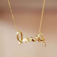 New Korean Fashion Temperament All-match Short Necklace Love Imitation Necklace Chain Letter Personality Clavicle(China)