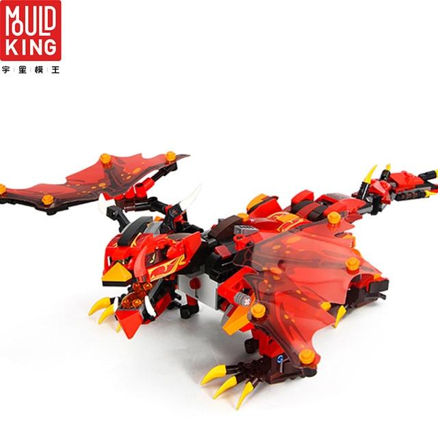 Mould king 13019 remote control rc action figure ninjago dragon building blocks technic educational toys children lepin™ land shop