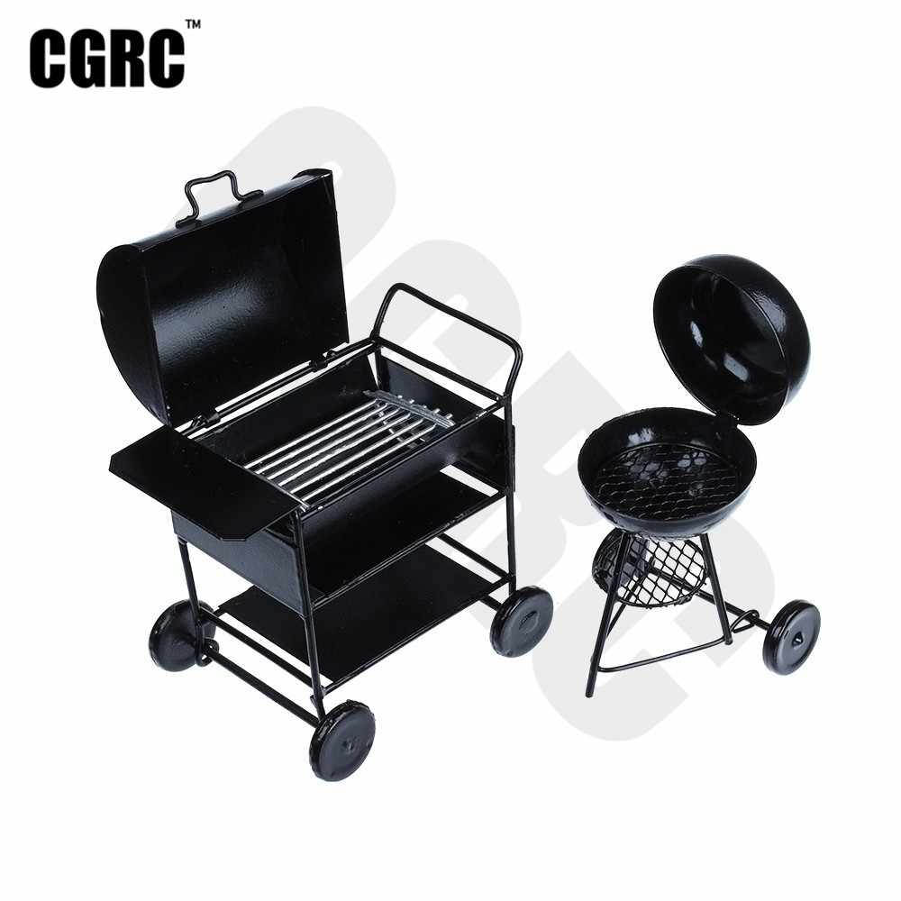 Mini Metalen Barbecue Auto Model BBQ 1:12 Dollhouse Voor 1/10 RC Crawler Auto TRX4 RC4WD D90 Axiale Scx10 Decoratie