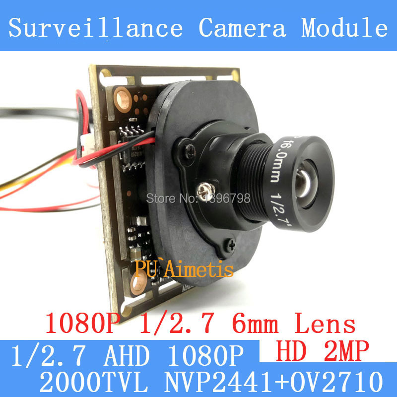 AHD 2MP CCTV OV2710 Camera Module 1920 * 1080 AHD 1080P  Low Illumination 0.001lux OSD Cable 2000TVL 1080P 6mm Lens / BNC Cable ahd 2 0megapixel cctv camera module pcb low illumination 0 001lux osd cable dc12v cvbs 2000tvl 3d noise reduction