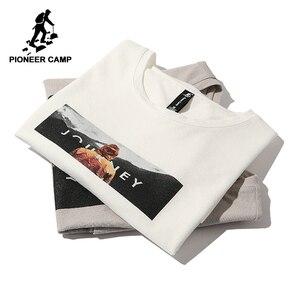Image 1 - פיוניר מחנה חדש קצר שרוול חולצה גברים מותג בגדים מזדמנים מודפס t חולצת כותנה לנשימה באיכות tees זכר ADT803140