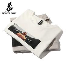 Pioneer camp nouveau t shirt à manches courtes hommes marque vêtements décontracté imprimé t shirt coton respirant qualité t shirts mâle ADT803140