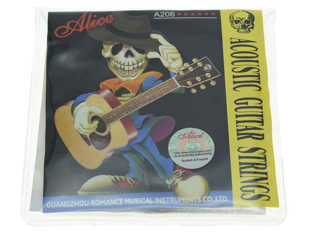 Set of Alice Stainless Steel Folk Acoustic Guitar String Super Light Stings 1st-6th (.011-.052)