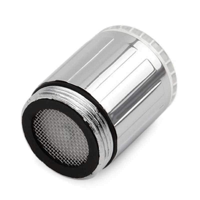 Shai Lampu Warna-warni Kran Dapur Pendingin Universal LED Kran Air Cahaya Glow Mengubah Kepala Pancuran Keran Dapur Aerator