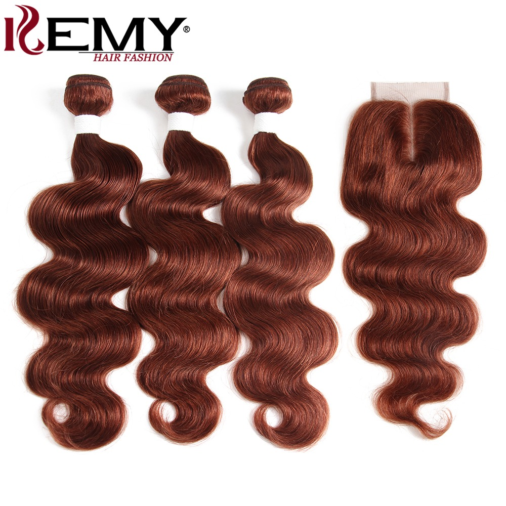 Hair Extensions & Wigs 3/4 Bundles With Closure Gentle I Envy 3 Brazilian Honey Blonde Bundles With Closure Deep Wave Human Hair Bundles With Closure Colored Hair #30 Non Remy Weaves Goods Of Every Description Are Available