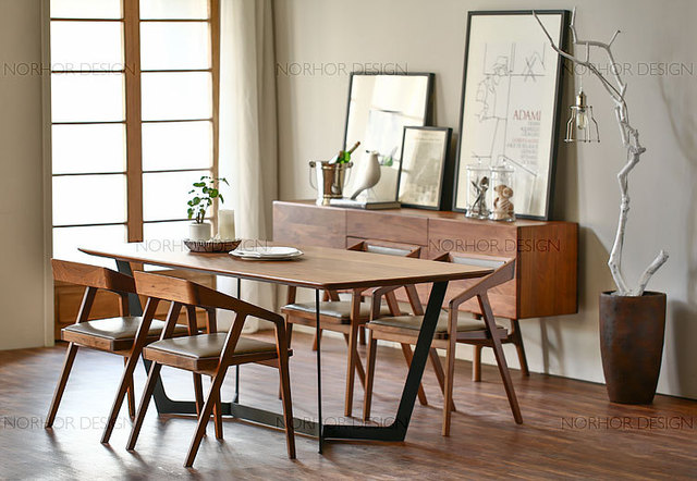 Nordic ikea multifunctionele simpel eetkamerstoelen massief houten ...