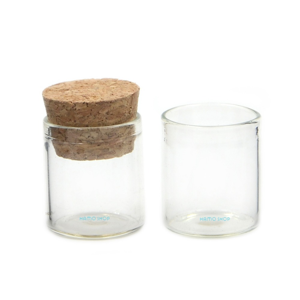 10pcs 4ml Glass Bottle Small Mini Corks Empty Oil Clear Vial Wishing 2225 in Storage Bottles Jars from Home Garden