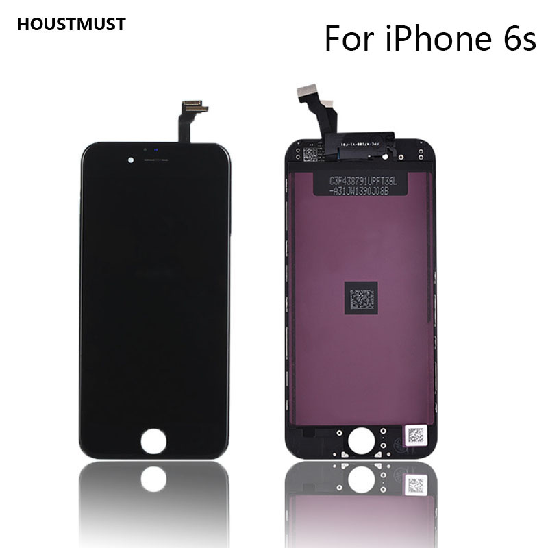 HOUSTMUST 1PCS Black White Color LCD Display Touch Screen Replacement LCD For iPhone 6s LCD screen No Dead Pixel Fast Shipping