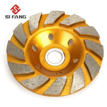 цена на 4 100mm Diamond Grinding Wheel Disc Bowl Shape Grinding Cup Concrete Granite Stone Ceramics Tools