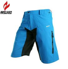 ARSUXEO Mens Outdoor Sports Cycling Clothing Downhill MTB Shorts Mountain Bike Bicycle Wear Jersey