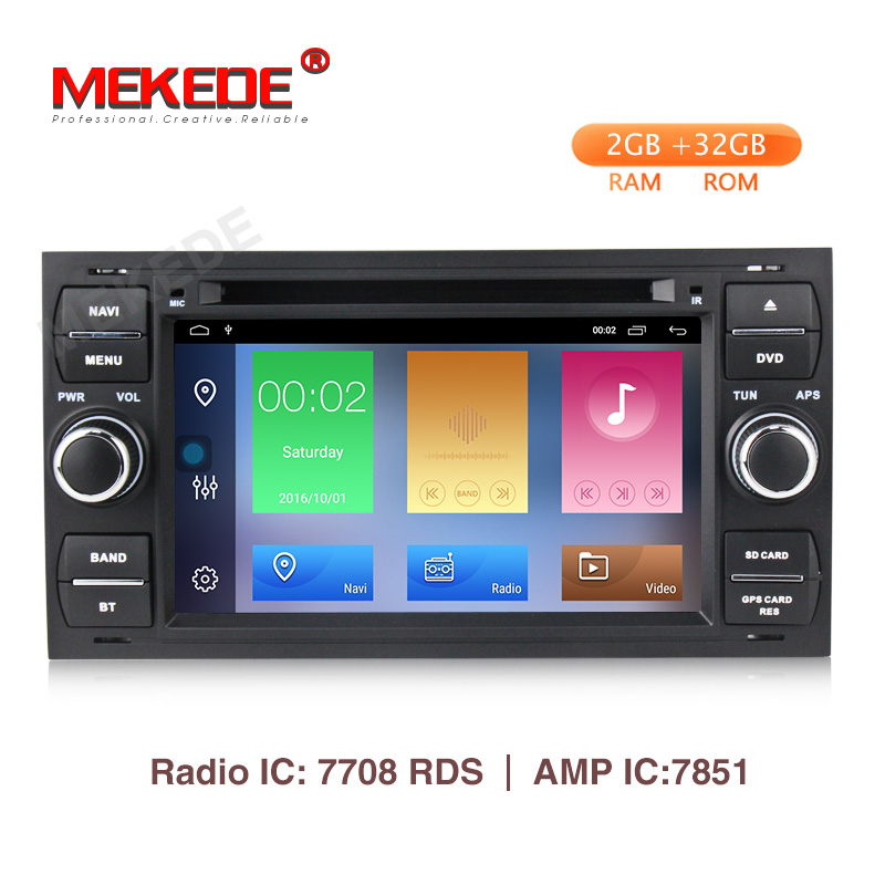 Car DVD Player Android 9.1 DAB+2din In Dash For Ford Transit Focus Connect S MAX Kuga Mondeo With QuadCore Wifi 4G GPS Bluetooth