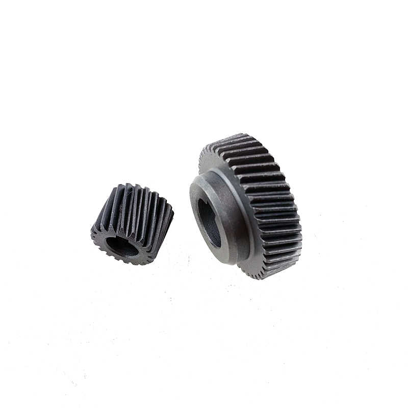 90 Degree Shaft Angle Replacement  Part Spiral Bevel Helical Gear Set 3pcs