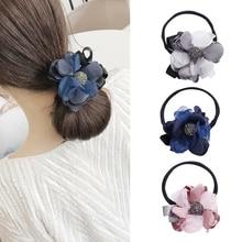 CHIMERA Womens Magic Bun Maker Flower Rhinestone Crystal Headwear Fashion DIY Twist Donuts Hair Pins Accessories Hairbands