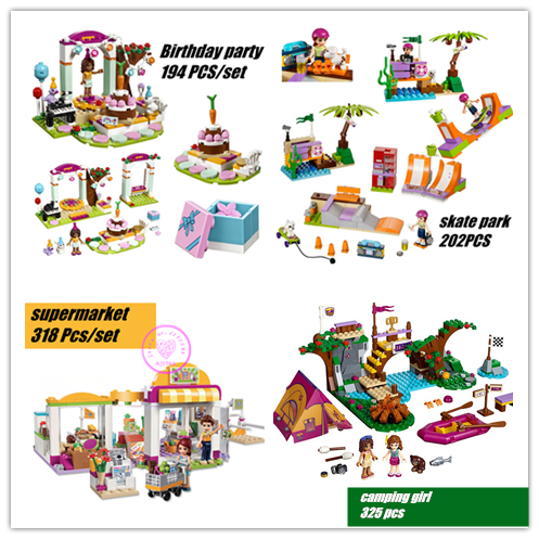 Girls Adventure Friends Series model Building kit Block Mini Brick Figure Girls birthday Toy compatiable with lego kid gift set simulation mini golf course display toy set with golf club ball flag