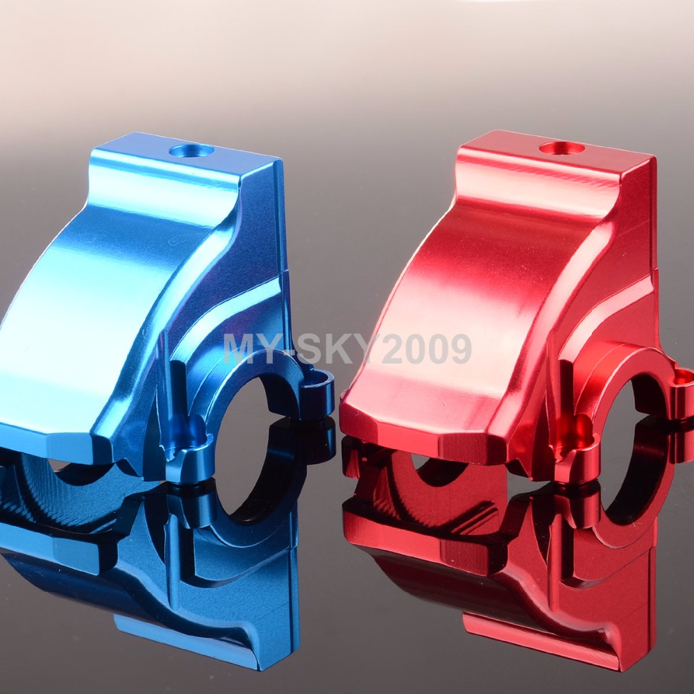 Red/Blue Aluminum Front / Rear DIFFERENTIAL HOUSING 7780 For RC 1/5 Traxxas X-Maxx 77076 traxxas x maxx x maxx aluminum front or rear lower suspension arms hot racing xmx55x01