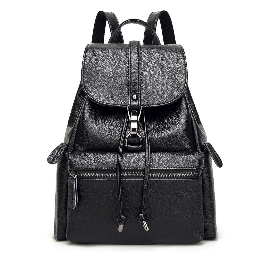 2019 New Fashion Women Leather Backpack High Quality Woman Backpacks Female Travel Shoulder Bag College Wind School Bags 621W(China)