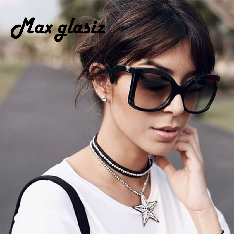 Ladies Square Sunglasses Women Luxury Brand Design Oversize Shades Female Gradient Lens Sun Glasses Big Frame Oculos De Sol