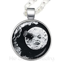 Wholes Nebula Space Necklace Starry Outer Space Universe Art Pattern Glass Gem Pendant Sweater Chain Map of the world(China)