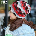 YBZ Spring Autumn Casual Brand Hats for Women Plaid Lady Caps Letter Printed Pile Cap Female Beanies Wholesale and Retail