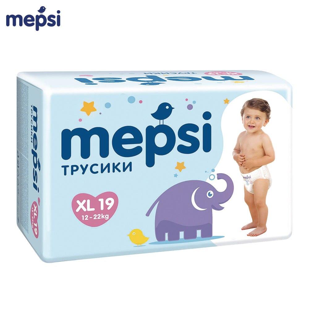 Трусики подгузники MEPSI, размер XL (12 22 кг), 19 шт. Одноразовые подгузники      АлиЭкспресс