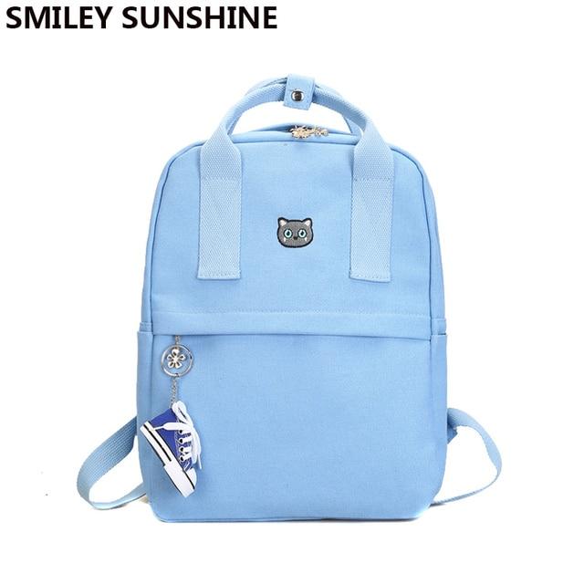 big sale d96cc 2669c Emoji School Bookbags Backpacks for Teenage Girls Canvas Women Backpack  Female Cute School Bags Female BacK Pack Mochilas 2018