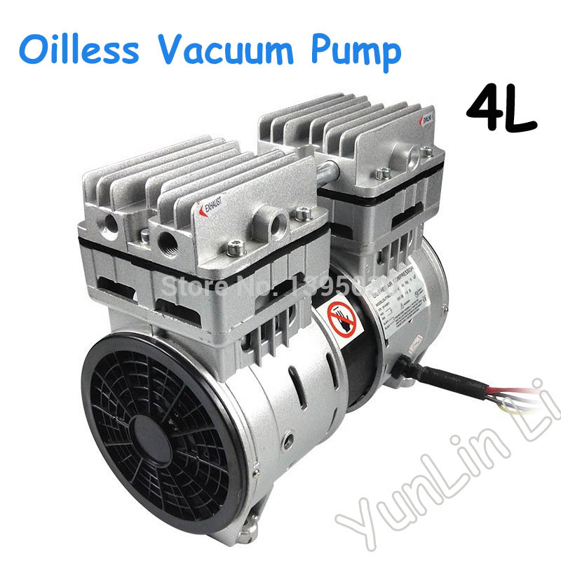 110V/220V 4L Oilless Vacuum Pump match with oca laminating machine for broken phone screen repair, LCD separator