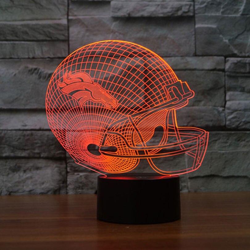 NFL Denver Broncos 3D Nachtlicht 7 Farben Wechsel LED Tisch lampe ...