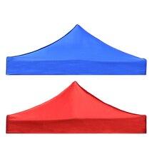 Çadır üst kapak gölgelik tente barınak kapak değiştirme su geçirmez Oxford çadır aksesuarları açık kamp yürüyüş için mavi/kırmızı