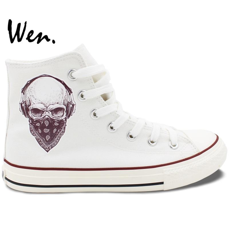 Schuhe Top High Schädel Wen Design Stil Davidson harley