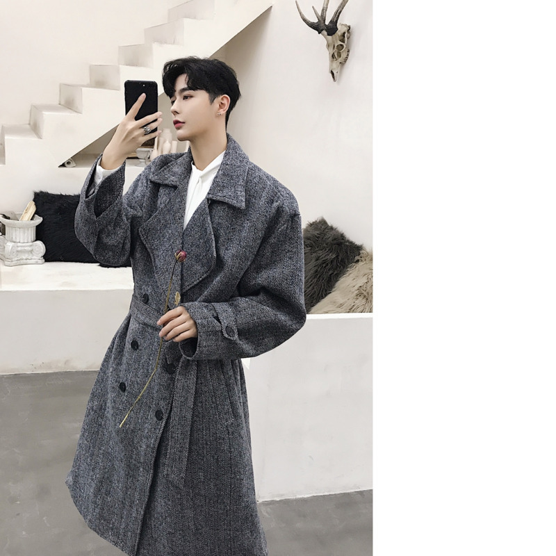 0764e4db83 Fashion Personality Autumn And Winter Men's New Woolen Coat M 2XL ...