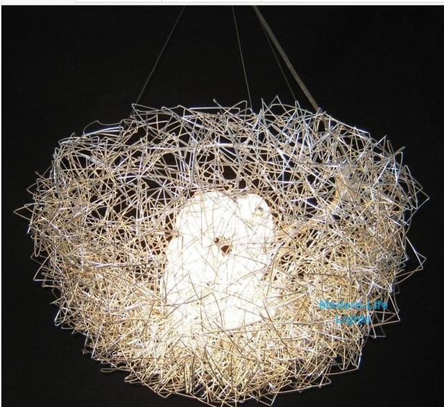 2017 Promotion New Aluminum Wire Bird S Nest Chandelier Ceiling Light Pendant Lamp Ch