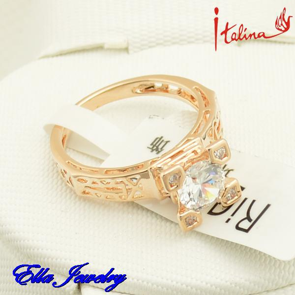 Rose Gold Color Austrian Crystal Italina Fashion Eiffel Tower Rings For Women 2018 Jewelry Romantic Gift