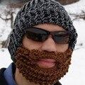 Мужская Зимняя Толстые Теплые Кабель Вязать Шапочки Hat 100% Ручной Работы Лыжную Шапочку