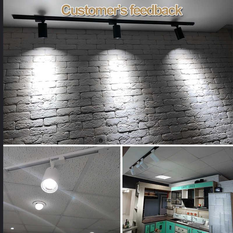 12 Вт 20 Вт 30 Вт COB светодиодный фонарь для дорожки Точечный светильник потолочный светильник для рельсовой дорожки декоративный светодиодный прожектор трассы освещение для магазина