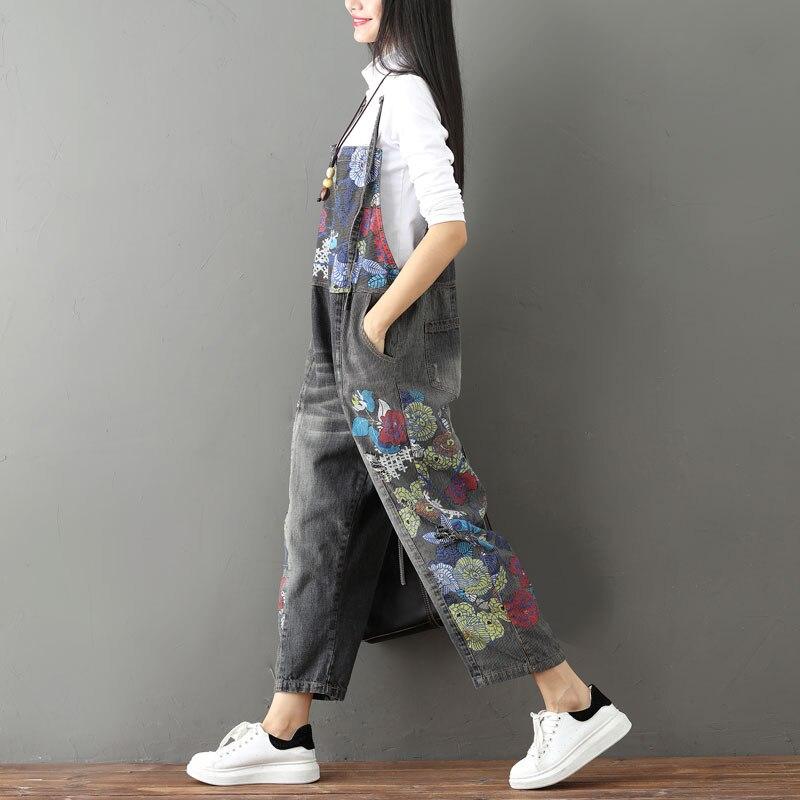 Nouveau Femmes Combinaisons Denim De Dames Taille Salopette Gratuite Mode Trous Barboteuses Livraison La Des 2017 Pour Lâche Jeans Et Avec Plus vw0qxEfWR