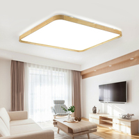 24W Led Panel Ceiling Lightings Square Wood Led Ceiling Lamp AC220V Remote Control Home Cafe Shopping Mall Led Decoration Lights